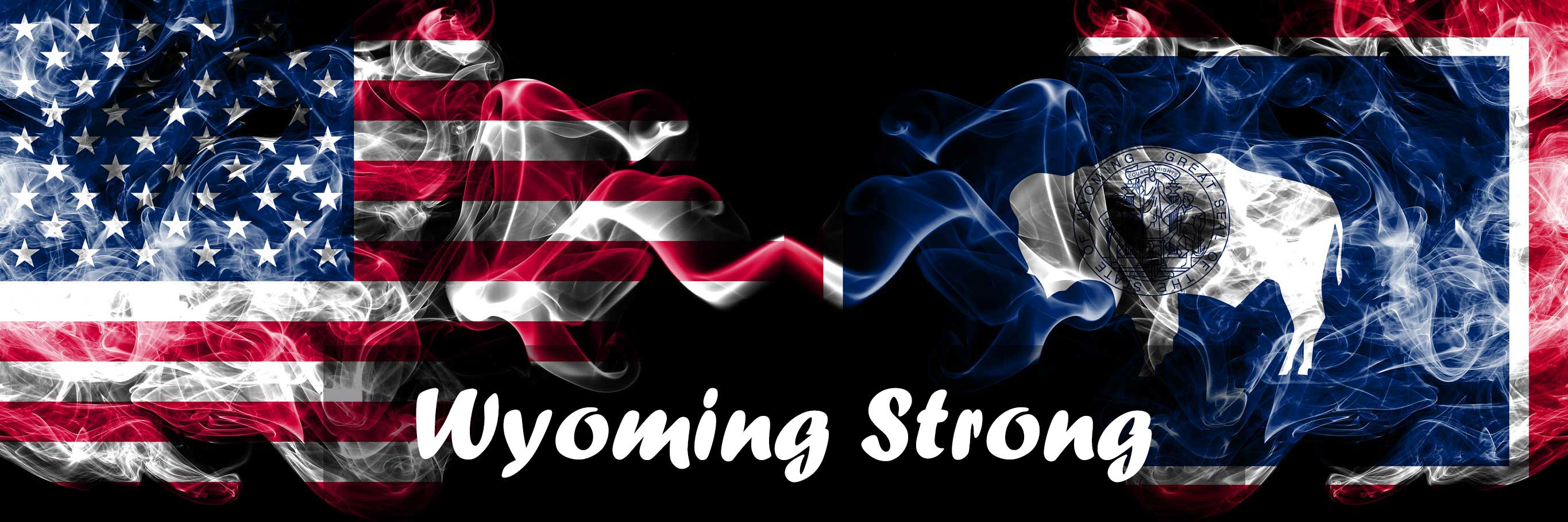 Usa Vs Wyoming State Background Abstract Concept Peace Smokes Flags Wyoming Strong